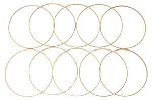 Elbesee inneren Ring, Holz, braun, 25cm x 10mm tief, 10Stück