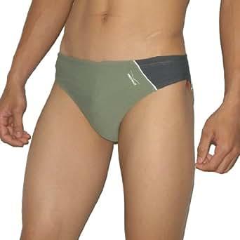 Mens Venice Beach Soft Dri-FIT-Bikini Brief Swimwear / Swim Trunks XS Army Green