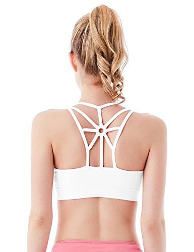 Jimmy Design Fitness BH Sport Top Weiß - M - Push-up-sport-bh Extreme