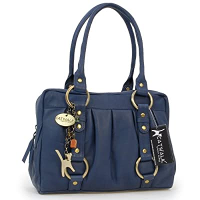 Catwalk Collection Leather Handbag - Megan - top-handle-bags