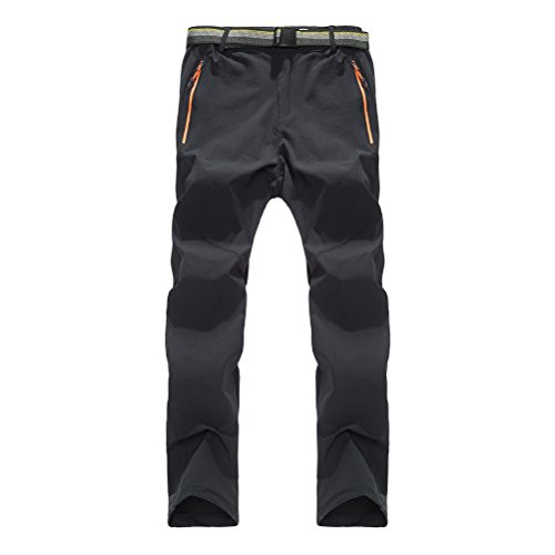 Zhhlinyuan Draussen Sports Quick-dry Trousers Simple Solid color Unisex Mens Womens Elasticity Casual Pants Solid Stretch Shell