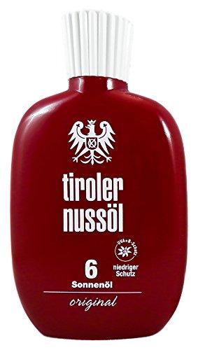 Original Tiroler Nussöl Sonnenöl wasserfest LSF 6, 150 ml
