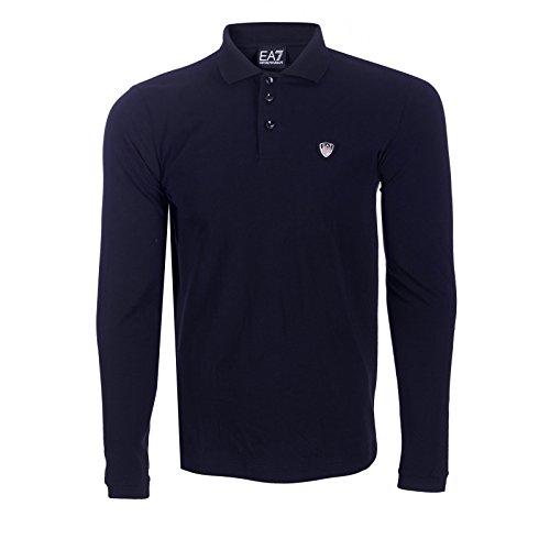EA7 EMPORIO ARMAN Herren Poloshirt, Blau Medium