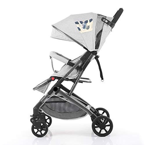 DGDG Kinderwagen, Leichte Tragbare Falten Zwei-Wege-Kinderwagen Kann Sitzen Liegend Allrad-StoßDäMpfer Kinderwagen Mini-Tasche Auto Umkehren