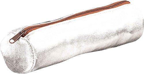 ELBA 100203583Federmäppchen Form Rund, Leder 22x Durchmesser 6cm einfarbig , Sortiert