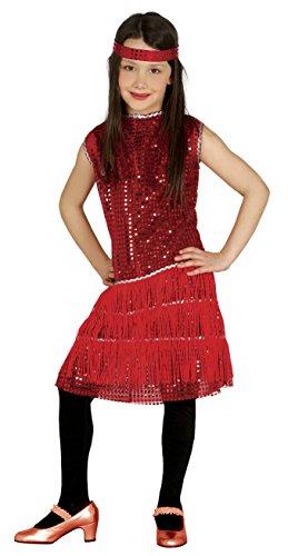 rleston Kostüm Pailletten Flapper Mädchen Kleid Gr 110-146, Größe:140/146 (1920er Jahre Kostüm Mädchen)
