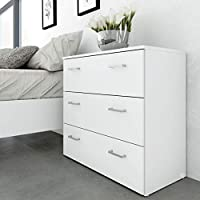 Tvilum Particle Board Space Chest, 70421, White, H69.9 x D35.95 x W74.1 cm, DIY Assembly