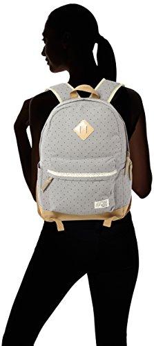 HITOP Vintage Mode Damen accessories hohe Qualität Leinwand Einfache Drucken Punkt Tasche Schultertasche Freizeitrucksack Tasche Rucksäcke (grau) - 4