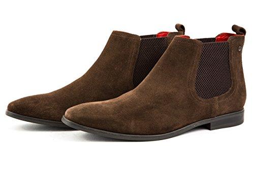 Base London Herren Chelsea Boots Stiefeletten Gr. 42 Braun