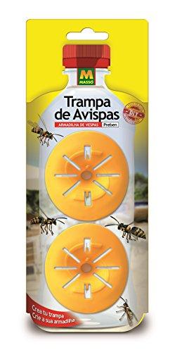 Preben 231400 - Trampa avispas, 8.6 x 26.5 x 2 cm, color amarillo