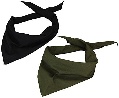 Alex Flittner Designs 2er Pack Dreieckstuch in schwarz/olive