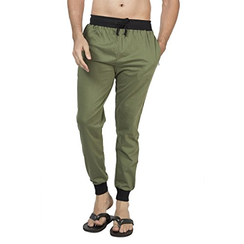 Clifton Men's Ribbed Slim Fit Track Pant - Olive - 4X-Large