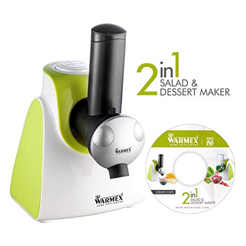 Warmex SDM 09 With 6 Cone Blades 150 Watts Electric Salad & Dessert Maker (White & Green)