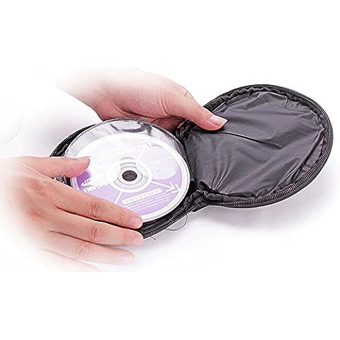 Ceely (TM) casa coche (20piezas capacidad CD DVD redondo caso bolsa titular organizador