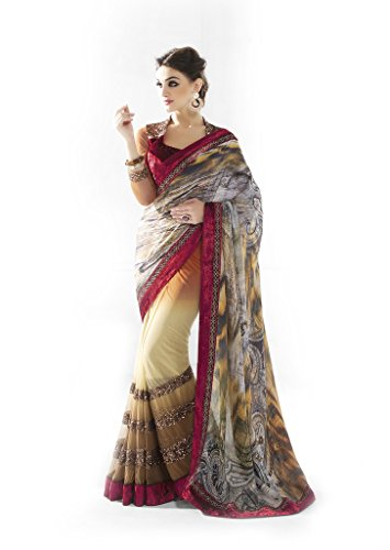 Mahotsav Faux Crepe Saree (9422_Multicolor)  available at amazon for Rs.1990
