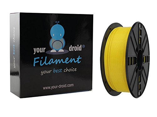 Your Droid Asa filamento Yellow Amarillo 1.75mm 1kg Bobina Impresora 3D