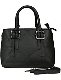Prepoy Trendsetter Exclusive Imported Leather Ette Hand Bag For Womens Hand Bag (Black)