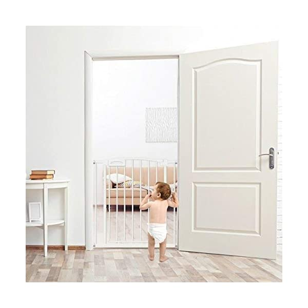 Callowesse Carusi Narrow Stair Gate. Self Closing, Quality Pressure Fitted Baby Gate. No Tools Required. (63-70cm, White) Callowesse Measure your opening before purchase - the carusi narrow only fits openings of 63-70cm. Versatile and dependable - the carusi narrow comes with plenty of features to help make your life easier. One handed operation - for times when you're holding your child or when your hands are full. 3