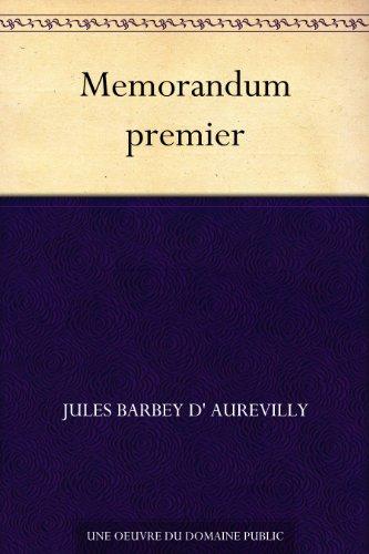 Couverture du livre Memorandum premier