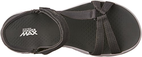 Skechers On the Go 400 Radiance, Sandales Bout Ouvert Femme Gris (Char)