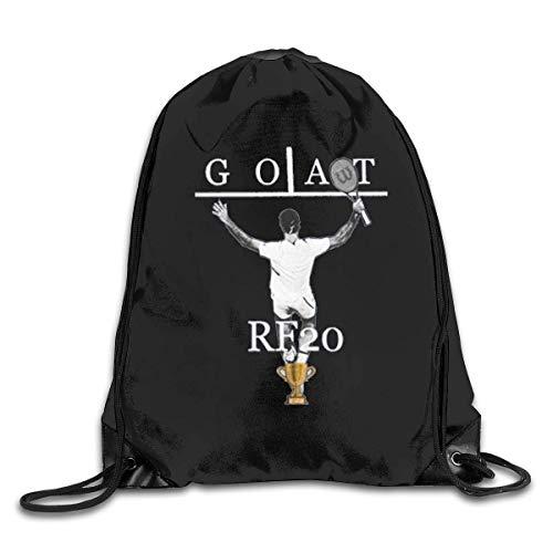 Borsa da palestra per borse sportive, Roger Federer Goat Tennis 20 Grand Slams Cinch Bags Drawstring Sacks Backpack Pull String Bulk Bags Gym Shoulder School Bags