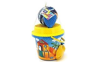 Globo Toys Globo 37755 - Cubo de Verano con Bola de Playa (2 Unidades, 20 cm)