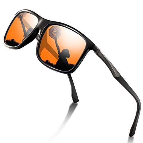 wearpro Sports Sunglasses Man - Polarized Sports Sunglasses for Men Women Driving Fishing Cycling Travel Mirrored Eyewear (orange) -