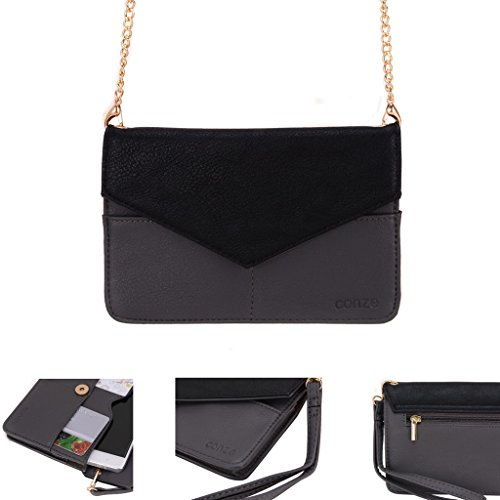 conze-womens-clutch-wallet-everything-bag-with-shoulder-straps-fits-smart-phone-for-lg-bello-ii-volt