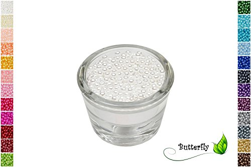 200 Perlen 4mm weiß 029 // Kuststoff Bastelperlen Drahtsterne Wachsperlen Perlenkette