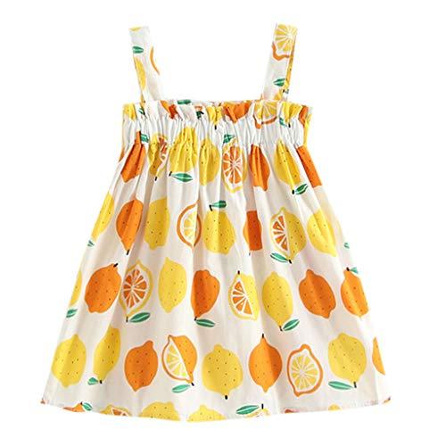 Kleider Baby Mädchen Zitronen Ärmellos Bügel Prinzessin Kleid Outfits ()