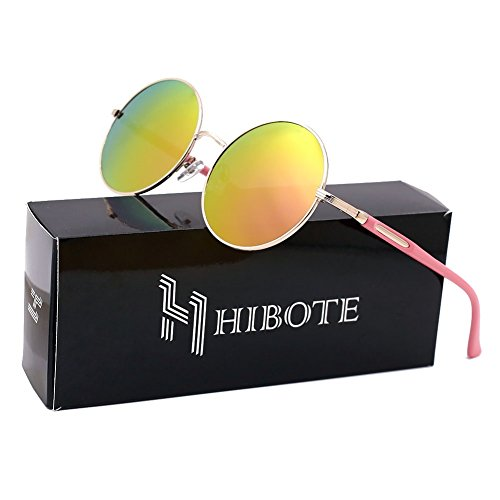 Hibote Damen Herren Sonnenbrille with Glasses Case UV 400 Protection