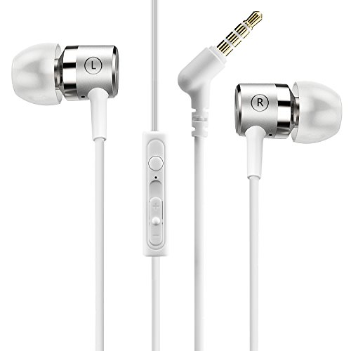 Mpow Écouteurs Intra-auriculaires Écouteurs Filaire Sport Oreillettes Filaires Casque Audio avec Micro Qualité Sonore Impressionnante Kit Main Libre pour iPhoneX, Galaxy, Wiko, Huawei, Tablette, etc.