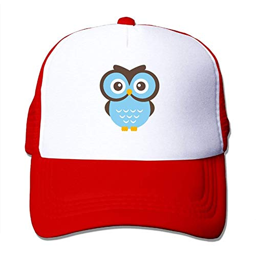 Preisvergleich Produktbild KENETOINA Owl Adulthood Men Female Unisex Adjustable Trucker Hat Baseball Cap Mesh Cap