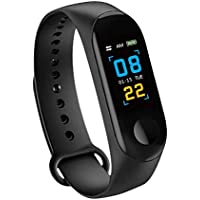 Konesky Fitness Tracker Monitor de Ritmo cardíaco Pulsera de presión Arterial Actividad Reloj Podómetro Contador de calorías Pulsera para Android iOS Smartphone (Negro)