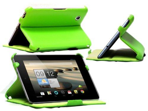 Navitech bycast Leder Case Cover für das Acer Iconia A1 810 7,9 Zoll (Multi Stand, grün) (Cover Acer A1 Für Iconia)
