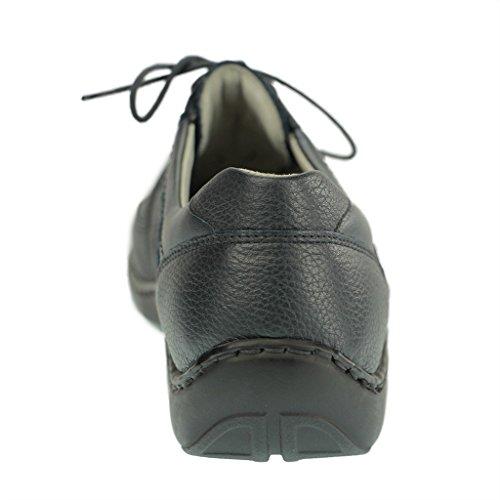 Waldläufer, 496000-244-002, Signore Pantofola Henni, Blu / Blu Oceano