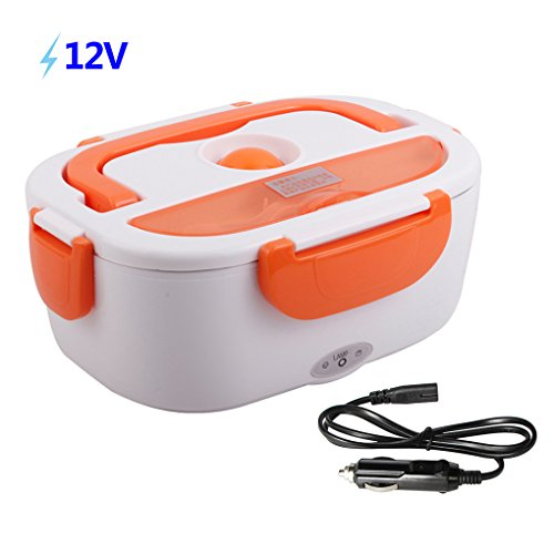 HJL Lunch Box Bandeja extraíble acero inoxidable 12V 40W
