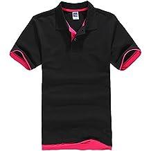 Moollyfox T-Shirt Casuel Sport Hommes Polo À Manches Courtes