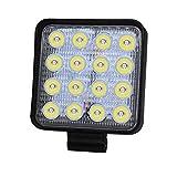 CA LED-Scheinwerfer, quadratisch, 48 W, wasserfest, Nebelscheinwerfer, 1 Stück