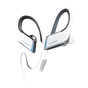 Panasonic RP-BTS50-W 3D Flex Sport Clip In-Ear Headphone, Metallic White