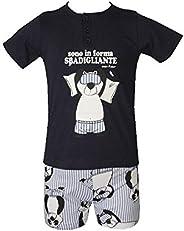 Crazy Farm Pigiama Ragazzo Cotone Estivo Manica Corta Pantalone Corto Serafino Articolo 32231