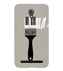 FUSON Paintbrush With Piano Keys 3D Hard Polycarbonate Designer Back Case Cover for Asus Zenfone Go ZC500TG (5 Inches)