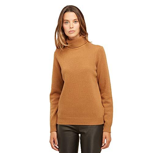 online retailer da73a 260cb BRUNELLA GORI Maglione Dolcevita Donna in 100% Lambswool Color Cammello