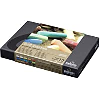 Rembrandt Soft Pastel Cardboard Box Set - 15 Half Stick General Selection - Art Supplies