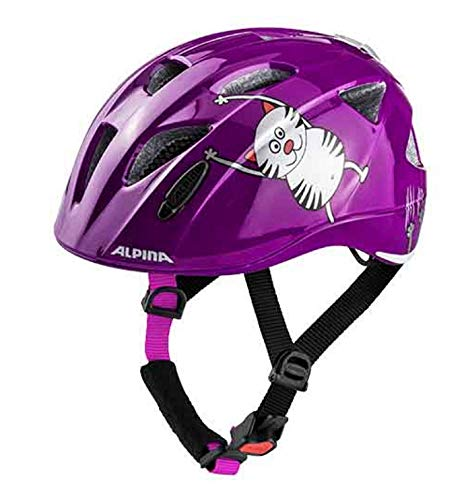 Alpina Ximo Flash Kinder Fahrradhelm - Purple Cat, Kopfumfang:47-51 cm