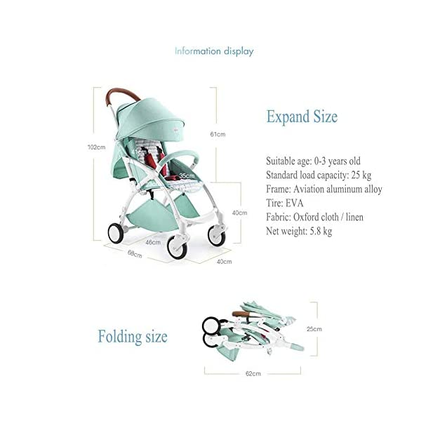 ZLMI Pushchairs Lightweight Pram Buggies Travel System Foldable Buggy 0-3 Years Old Baby Stroller bb Car,B ZLMI The adjustable 5-point safety harness has comfortable shoulder pads, The sturdy frame has a wider seat which results in a more comfortable ride for your child The stroller can be easily folded, smaller and more portable; the adjustable backrest angle can be seated or lying down, as well as a large shopping basket and caster The body is made of high-quality steel pipe, strong and durable, strong load-bearing, soft pedals, safe and environmentally friendly, will not scratch the baby, strong toughness and durability 6
