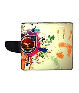 KolorEdge Printed Flip Cover For Asus Zenfone 4 Multicolor - (43KeMLogo11670Zen4)