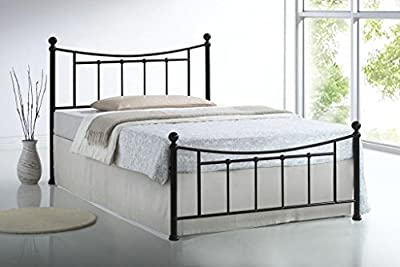 Sareer Bristol Bed Frame - Victorian Metal Bed - 4FT6 Double - Bed Frame Black - Metal Bed Frames Double