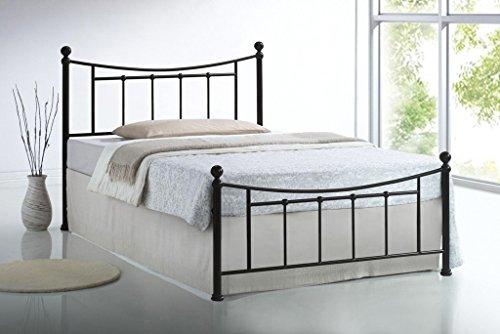 Sareer Bristol Bed Frame - Victorian Metal Bed - 4FT6 Double - Bed Frame Black - Metal Bed Frames Double