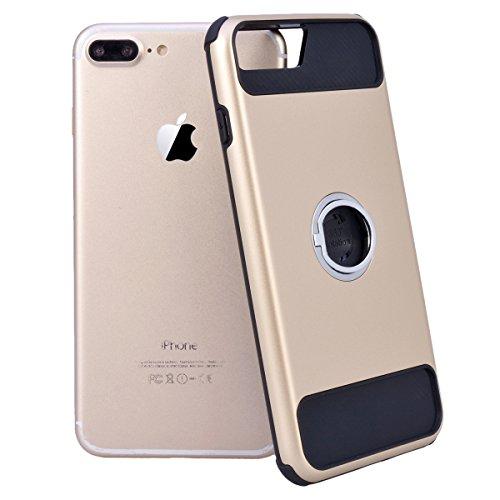 Coque iPhone 7 Plus / iPhone 8 Plus, HB-Int 2 et 1 Housse de Protection Plastique Hard Back Case avec Fonction Stand Support Etui Ultra Thin Antichoc Cas Couverture pour Apple iPhone 7 Plus / iPhone 8 Or